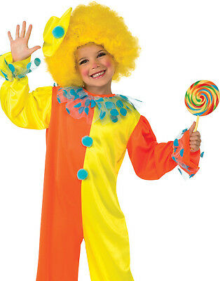Party Clown Kids Jumpsuit Fun Toddler Halloween Fancy Dress Costume With Hat M](Halloween Fun With Kids)
