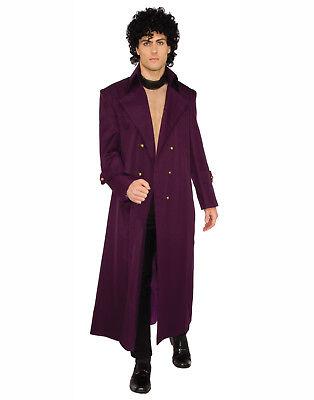 Rock Royalty Lila Herren Erwachsene Prinz Halloween Kostüm Jacke ()