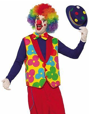 Clown Weste und Fliege Erwachsene Kostüm Blumen Floral Zubehör Zirkus - Clown Kostüm Und Zubehör
