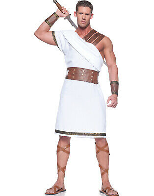 Mens Greek Halloween Costumes (Greek Warrior Gladiator Roman Spartan Mens Fancy Halloween Party)