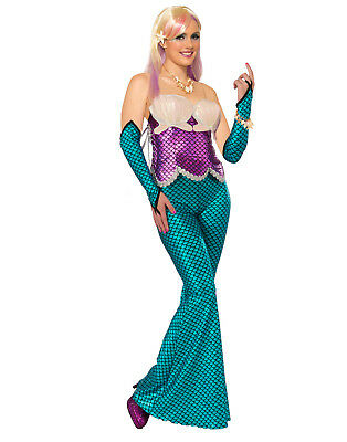 Fantasy Mermaid Ariel Costumes Pink Adult Corset Womens](Ariel Costumes For Women)