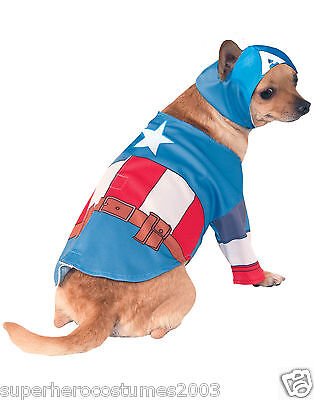 The Avengers Captain America Marvel Comic Hund Kostüm Größe S Neu Rubies 580070 (Captain America Hund Kostüme)
