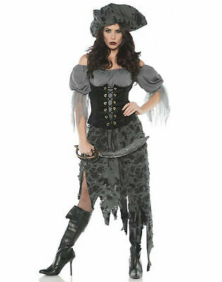 Lost At Sea Womens Adult Grey Ghost Pirate Halloween Costume](Lost Costumes)
