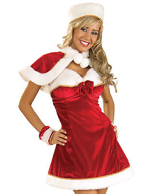 Sexy Santas Lil Helper Miss Inspiration Christmas Holiday Womens Costume Set (Santas Helper Sexy Kostüm)