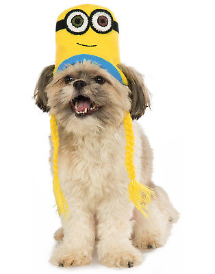 Despicable Me Pet Minion Bob Knit Dog Costume Headpiece Hat Beanie - Dog Costume Minion