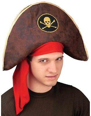 Buccaneer Captain Mens Adult Pirate Captain Costume Brown Hat - Pirate Captain Hat