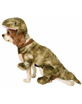 Hund Kostüm Prähistorisch Dinosaurier Tier Haustier T-Rex Halloween - Klein