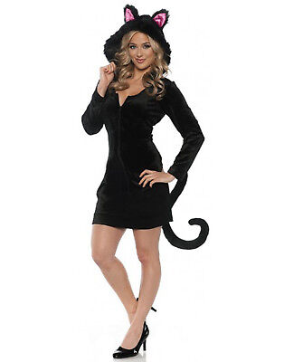 Black Cat Mini Dress Womens Adult Animal Halloween - Animal Halloween Costumes For Womens