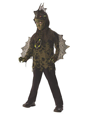 Swamp Boy Childs Mythical Creature Monster Halloween Costume - Swamp Creature Costume
