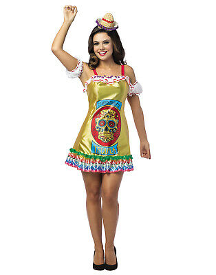 Tequila Womens Adult Mexican Liquor Halloween Costume Dress-Os