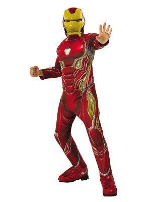 Iron Man Avengers Endspiel Jungen Kind Deluxe Marvel Superheld Kostüm ()