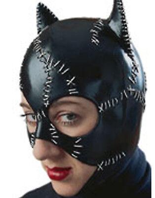 Catwoman Batman Vinyl Mask Fetish Role Play Womens Halloween Cost
