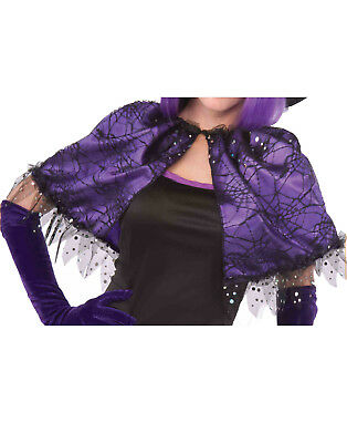 Wild N Witchy Womens Adult Purple Witch Vampire Costume Capelet