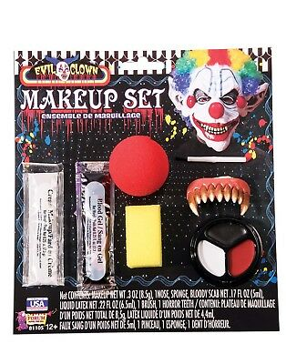 Evil Face Painting Halloween (Evil Clown Costume Face Paint Halloween Disguise Makeup)