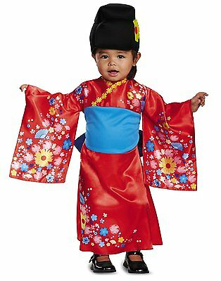 Kimono Cutie Japanese Geisha Toddler Costume - Toddler Geisha Costume