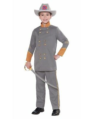 Konföderierte Office Jungen Kind Militär General Halloween Kostüm
