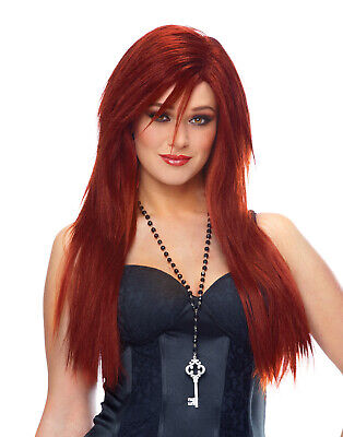 Bride Of Chucky Long Straight Red Sexy Womens Fancy Vixen Halloween Costume Wig](Red Chucky Wig)