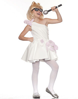 Ra Ra Popstar Lady Gaga White Fancy Dress Girls Halloween Party Costume - Costume Halloween Lady Gaga