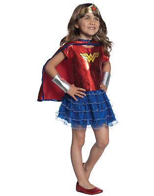 Wonder Woman Tutu Dress Up Girls Toddler Superhero Halloween Costume Set-Ot