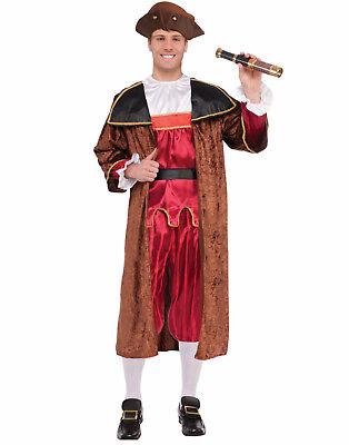 Christopher Columbus Mens Adult Historical Voyager Halloween Costume-Std