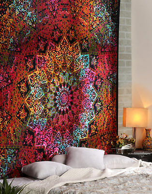 Indian Star Hippie Mandala Psychedelic Wall Hanging Tapestry Queen Throw Ethnic9