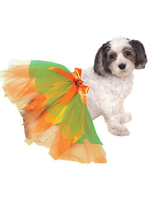 Pumpkin Tutu Pet Dog Cat Orange Halloween Ballet Skirt-M-L - Halloween Ballet Pumpkin