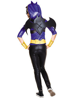Deluxe Girls Dc Batgirl Superhero Bat Halloween Costume Dress - Girl Bat Costume