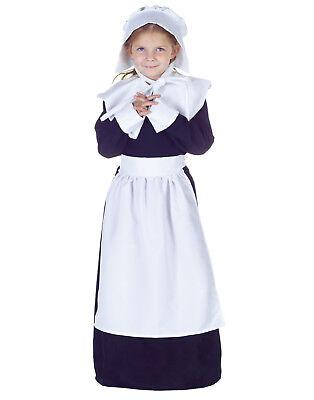 Pilgrim Girls Childs Colonial Thanksgiving Halloween Costume