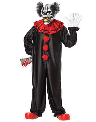 Last Laugh The Clown Psycho Circus Scary Deluxe It Adult Halloween Costume - Last Laugh Clown Costume