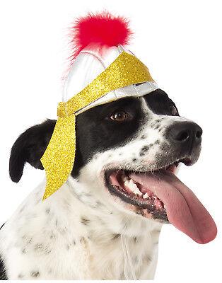 Römischer Soldat Gladiator Krieger Haustier Hund Katze Kostüm Helm Hut ()