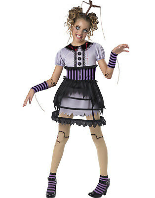 Fractured Marionette Girls Child Broken Doll Halloween - Girls Broken Doll Costume