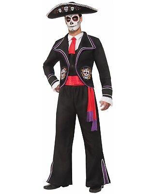 Tag der Toten Herren Mariachi Macabre Kostüm - (Toten Mariachi Kostüm)