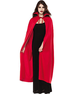 Red Full Length Adult Vampire Devil Demon Costume Cape With - Costumes With Red Capes