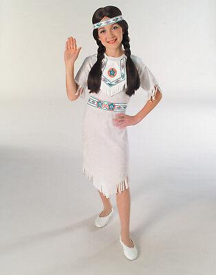 Mädchen Indian Klassisch Weiß Indianer Prinzessin Kostüm