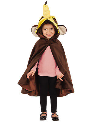 Monkey Child Hooded Zoo Circus Animal Costume Cape Cloak Mantle](Circus Monkey Costume)