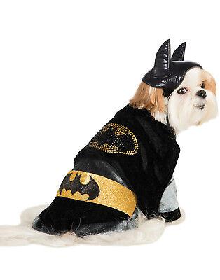 Dc Comics Kuschlig Velours Batman Haustier Hund Katze Halloween Kostüm (Haustier Katze Kostüme Batman)
