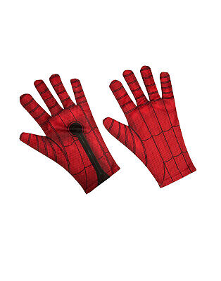 Spiderman Far From Home Spiderman Mens Adult Fabric Superhero Costume Gloves