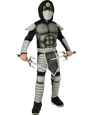 Stealth Ninja Samurai Warrior Boys Halloween Party Childs Costume S - Samurai Warrior Halloween Costume