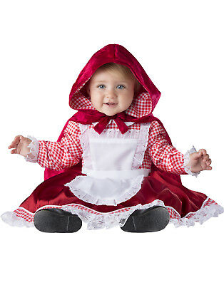 Baby Fairy Tale Costumes (Lil Red Riding Hood Girls Infant Fairy Tale Halloween)