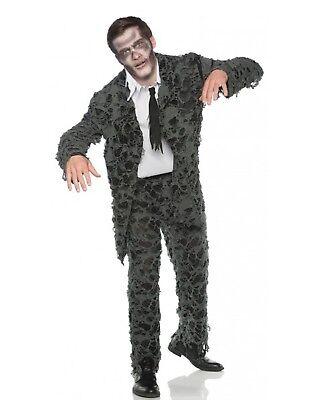 Undead Mens Adult Zombie Groom Prom Halloween Suit Costume (Zombie Costume Mens)