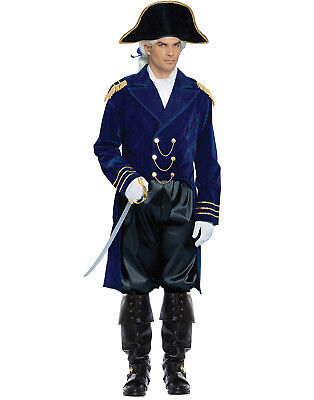 Navy Blue 18 Century Great Britain General Adult Halloween Costume