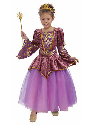 Plum Princess Girls Child Purple Royal Fairy Halloween Costume