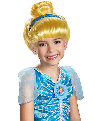 Disney Cinderella Wig Fairytale Princess Fancy Halloween Costume Girls One Size