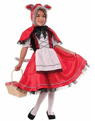 Wolf Girl Halloween Costume (Lil Red Riding Wolf Girls Child Fairy Tale Halloween)