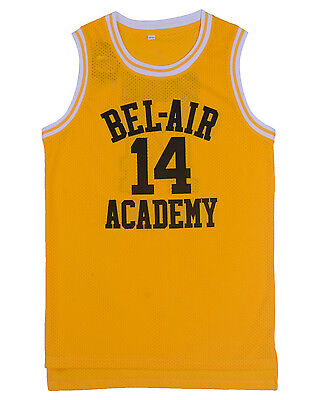 Basketball Jersey Will Smith The Fresh Prince Bel Air Academy Jersey Yellow 14
