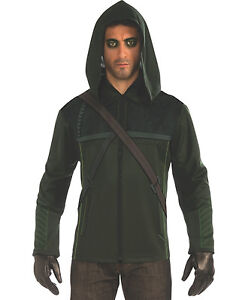 green arrow oliver queen jacket hoodie mens costume outfit. Black Bedroom Furniture Sets. Home Design Ideas