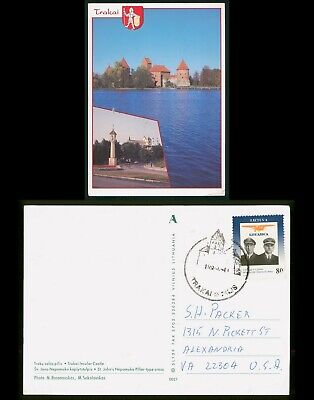 Mayfairstamps Lithuania Trakai to US Alexandria VA Postcard wwo88253