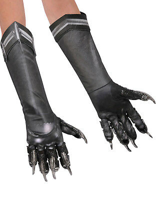 Civil War Captain American Black Panther Adult Black Claw Gloves Adult ()