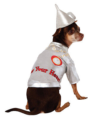 The Wizard Of Oz Tin Man Woodman Pet Dog Cat Halloween Costume - Dog Wizard Of Oz Costumes