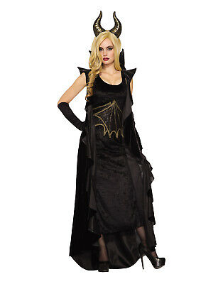 Wicked Dragon Womens Adult Black Maleficent Halloween - Maleficent'Halloween Kostüm